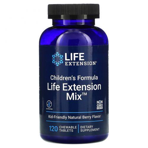 Life Extension, Children's Formula, Life Extension Mix, Natural Berry Flavor, 120 Chewable Tablets
