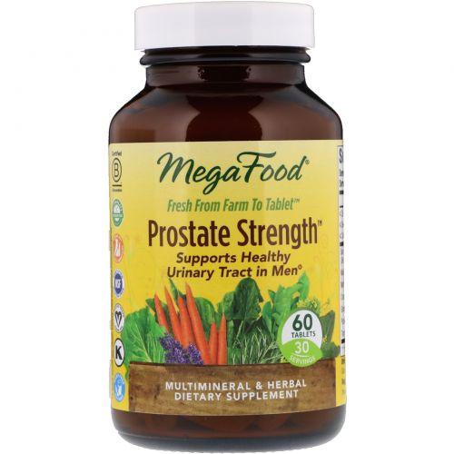 MegaFood, Prostate Strength, сила простаты, 60 таблеток