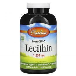 Carlson Labs, Лецитин, 1200 мг, 280 мягких таблеток