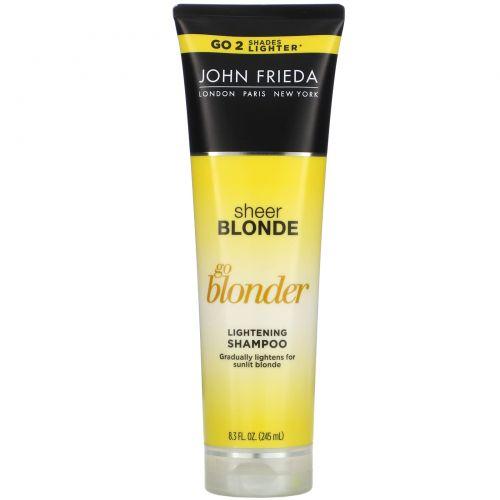 John Frieda, Осветляющий шампунь Sheer Blonde, Go Blonder, 245мл