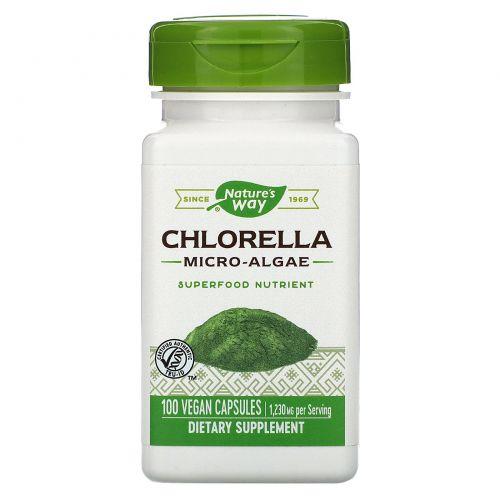 Nature's Way, Хлорелла, микроскопическая водоросль, 410 мг, 100 капсул