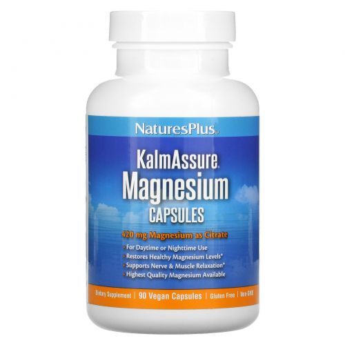 Nature's Plus, Kalmassure, Magnesium, 400 mg, 90 Vegan Capsules