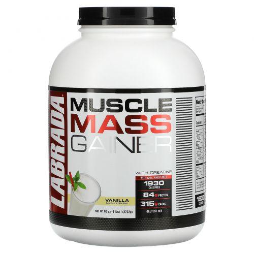 Labrada Nutrition, Средство набора мышечной массы с креатином, ваниль, 2722 г