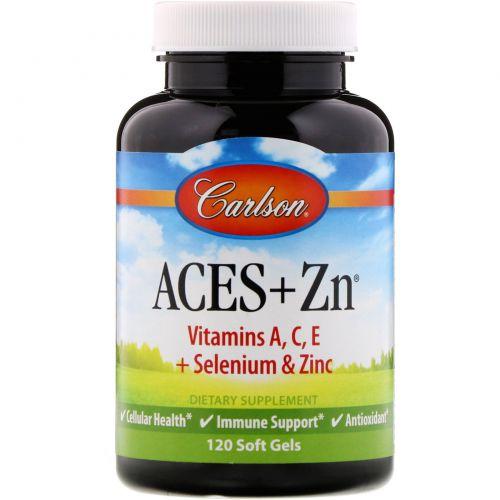 Carlson Labs, Витамины Aces + цинк, 120 мягких капсул
