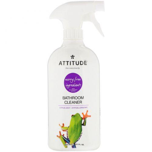 ATTITUDE, Bathroom Cleaner, Citrus Zest, 27.1 fl oz (800 ml)
