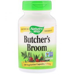 Nature's Way, Butcher's Broom, 470 mg, 100 Vegetarian Capsules