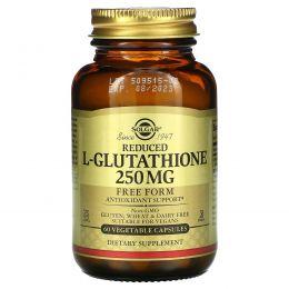 Solgar, Сокращенный L-глутатион, 250 мг, 60 капсул на растительной основе