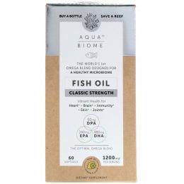 Enzymedica, Aqua Biome, рыбий жир, классическая сила, лимонный вкус, 60 гелевых капсул