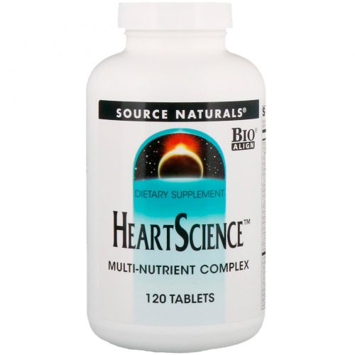 Source Naturals, Heart Science, комплекс мультинутриентов, 120 таблеток
