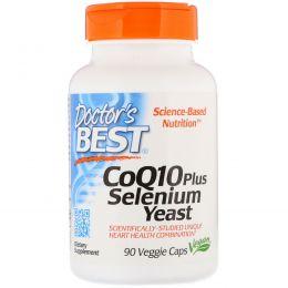 Doctor's Best, CoQ10 плюс селен и дрожжи, 90 вегетарианских капсул