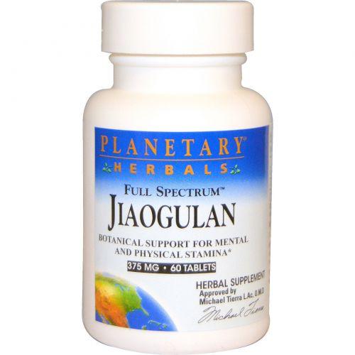 Planetary Herbals, Цзяогулань полного спектра, 375 мг, 60 таблеток