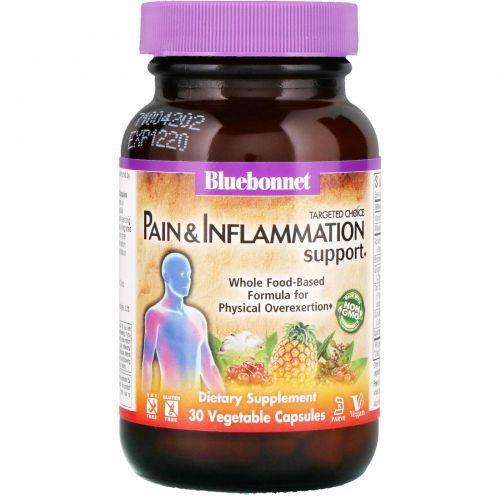Bluebonnet Nutrition, Целенаправленный выбор, улучшение состояния при боли и воспалении, 30 вегетарианских капсул