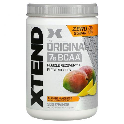 Scivation, XTend, BCAAs (аминокислоты с разветвленными боковыми цепями), со вкусом манго, 14,6 унции (415 г)