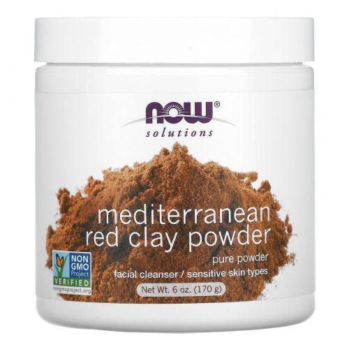 Now Foods, Решение проблем, Марокканская Красная глина, детоксикация кожи лица, в порошке, 6 унций (170 г)