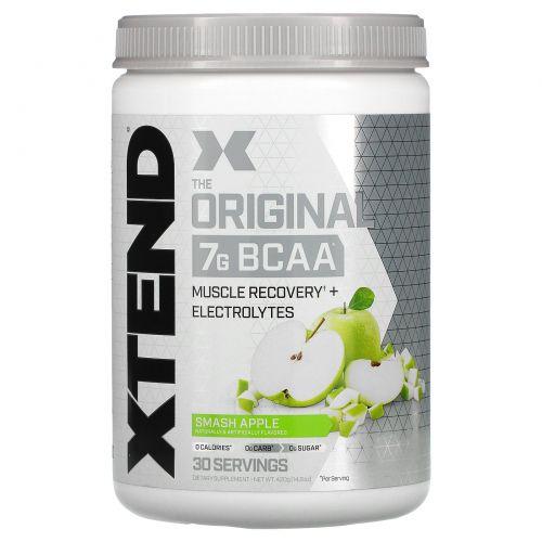 Scivation, Xtend, BCAAs (аминокислоты с разветвленными боковыми цепями), со вкусом зеленого яблока, 14,0 унций (398 г)