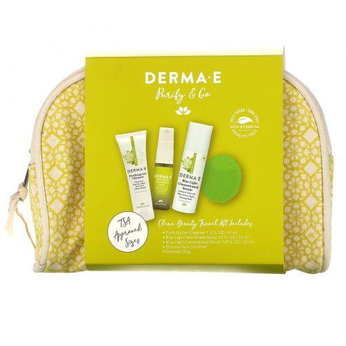 Derma E, Purify & Go, Clean Beauty Travel Kit, 5 Piece Kit