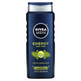 Nivea, Мужской гель для душа 3-в-1, энергия, 500 мл (16,9 жидких унций)