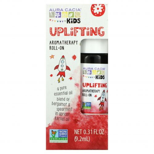 Aura Cacia, Kids, Aromatherapy Roll-On, Uplifting, 0.31 fl oz (9.2 ml)