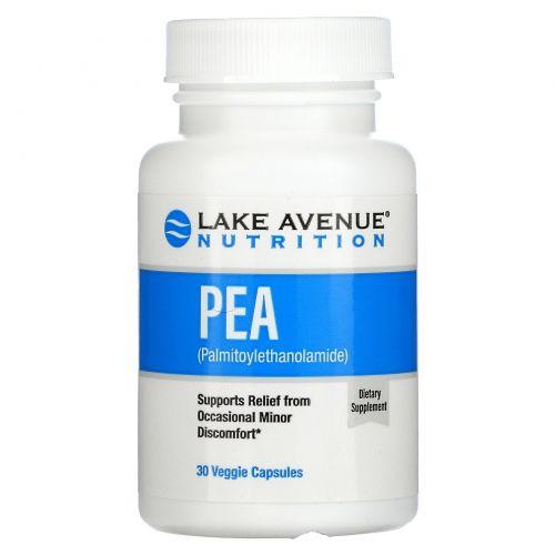 Lake Avenue Nutrition, PEA (Palmitoylethanolamide), 600 mg, 30 Veggie Capsules