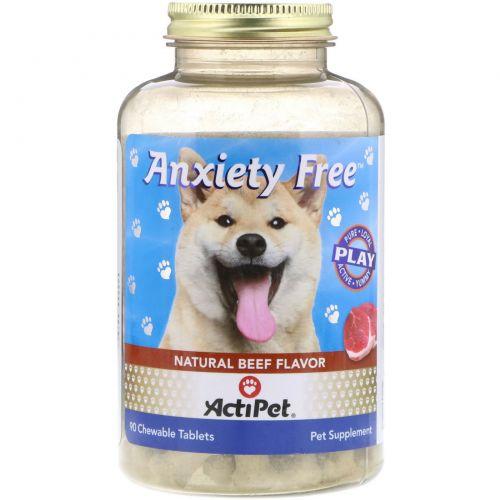 Actipet, Средство от тревоги во время поездок и разлуки с хозяином для собак, 90 жевательных таблеток