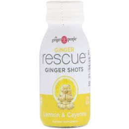 The Ginger People, Ginger Rescue Shots, Lemon & Cayenne, 2 fl oz (60 ml)