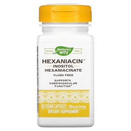 Nature's Way, ГексаНиацин, 590 мг, 60 растительных капсул