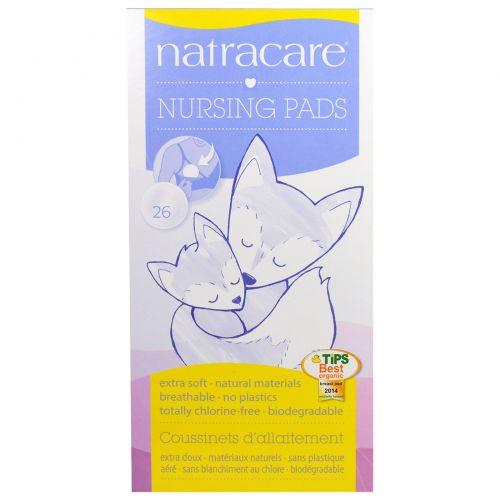 Natracare, Прокладки для кормящих мам, 26 штук