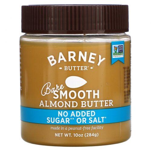 Barney Butter, Густая миндальная паста, пресная, 10 унций (284 г)