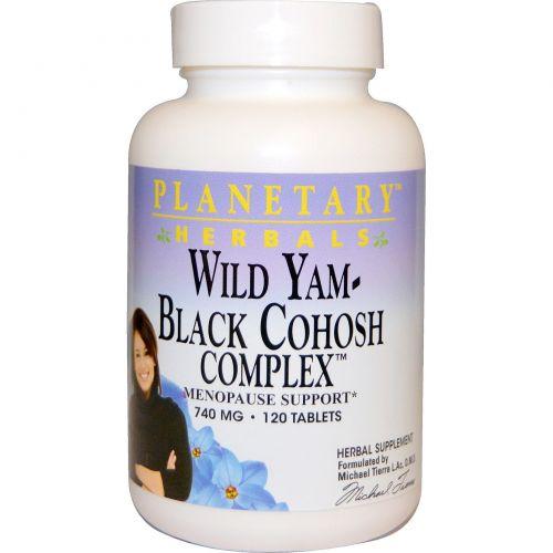 Planetary Herbals, Дикий ямс – комплекс с клопогоном кистевидным, 740 мг, 120 таблеток