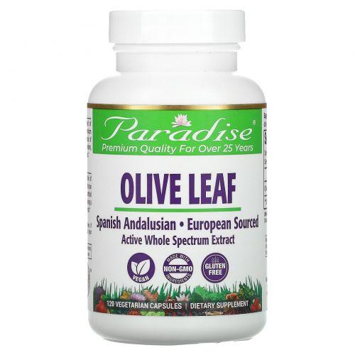 Paradise Herbs, Лист испанской андалузской оливы, 120 капсул на растительной основе