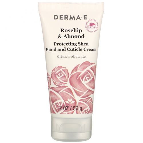Derma E, Protective Shea Hand and Cuticle Cream, Rosehip & Almond, 2 oz (56 g)