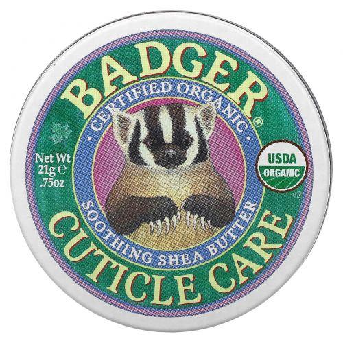 Badger Company, Органический уход за кутикулой, Успокаивающее масло ши, 0,75 унции (21 г)