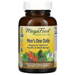 MegaFood, Мультивитамины и минералы для мужчин, без железа, 30 таблеток