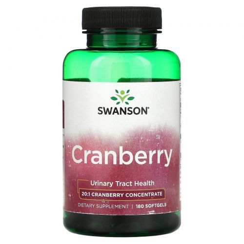 Swanson, Cranberry, 180 Softgels