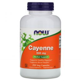 Now Foods, Cayenne, 500 mg, 250 Veggie Caps