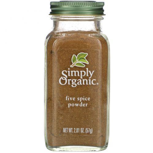 Simply Organic, Порошок Five Spice, 2.01 унции (57 г)