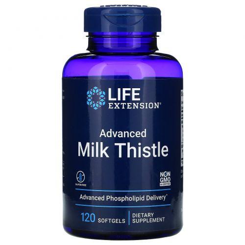 Life Extension, Европейский молочный чертополох, 120 желатиновых капсул