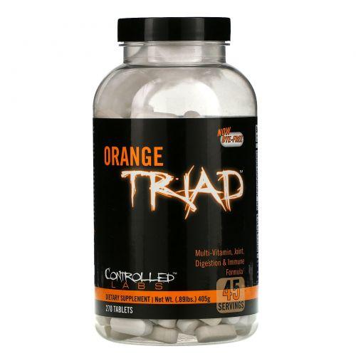 Controlled Labs, Оранжевая триада, мультивитамин, формула для суставов, пищеварения и иммунитета, 270 таблеток