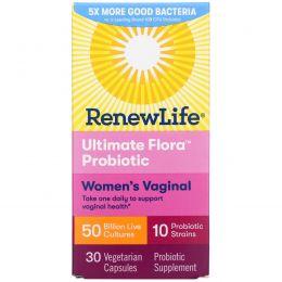 Renew Life, Ultimate Flora, Vaginal Support, 50 миллиардов, 30 вегетарианских капсул
