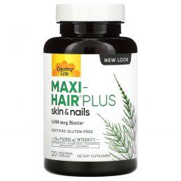 Country Life, Maxi Hair Plus, 120 растительных таблеток