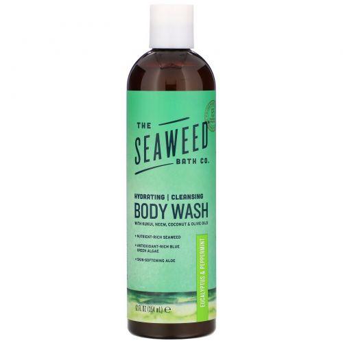 Seaweed Bath Co., Безумно природно, гель для душа с морскими водорослями, эвкалипт и перечная мята, 360 мл (12 жидких унций)