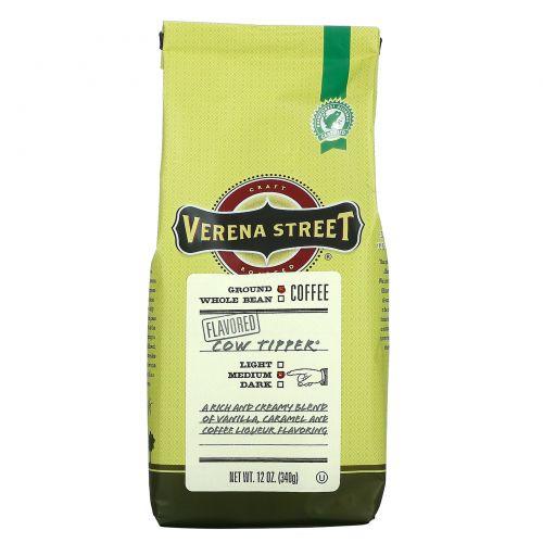 Verena Street, Cow Tipper, молотый кофе, с ароматизатором, средней обжарки, 340г (12унций)