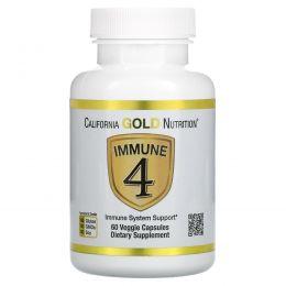 California Gold Nutrition, Immune4, Immune System Support, 60 Veggie Capsules