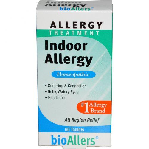 NatraBio, BioAllers, лечение домашней аллергии, 60 таблеток