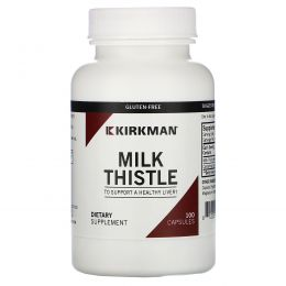 Kirkman Labs, Расторопша, 100 мг, 100 капсул