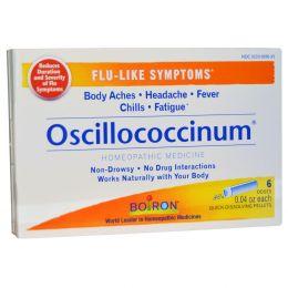 Boiron, Оциллококцинум, 6 доз, 0,04 унции каждая