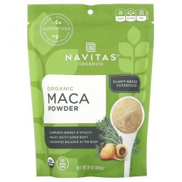 Navitas Organics, Organic, порошок маки, сырой, 16 унций (454 г)