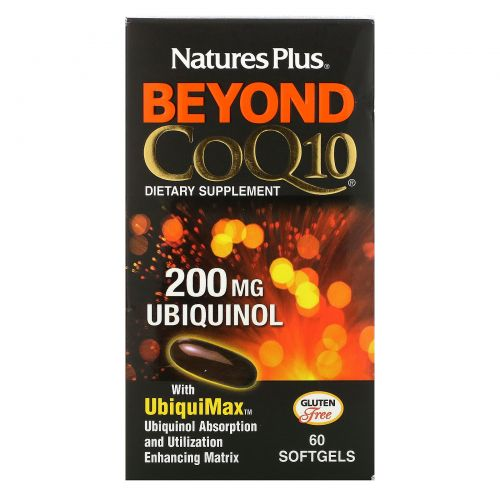 Nature's Plus, Beyond CoQ10, убихинол, 200 мг, 60 мягких таблеток