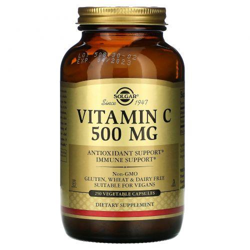 Solgar, Витамин С 250 овощных капсул