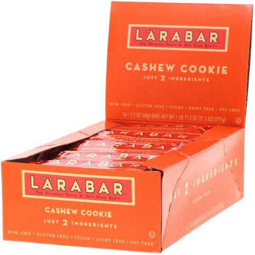 Larabar, Печенье с кешью, 16 печений, 1,7 унции (48 г) каждое